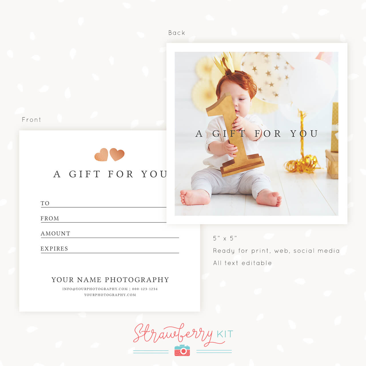 Gift Certificate Template Photshop Classic Photo