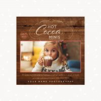 Hot Chocolate Mini Sessions Template