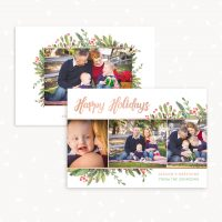 Christmas Card Template With Photo
