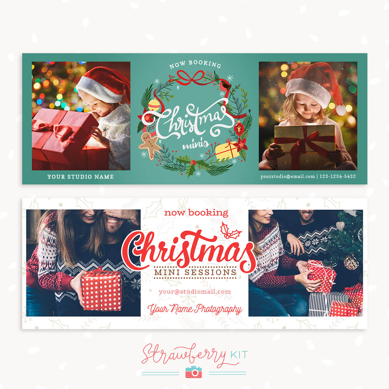 Now Booking Christmas Facebook Covers