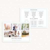 Photography Pricing Card Template