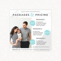 Square Pricing Card Photography