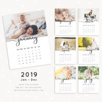 2019 Photography Calendar Template
