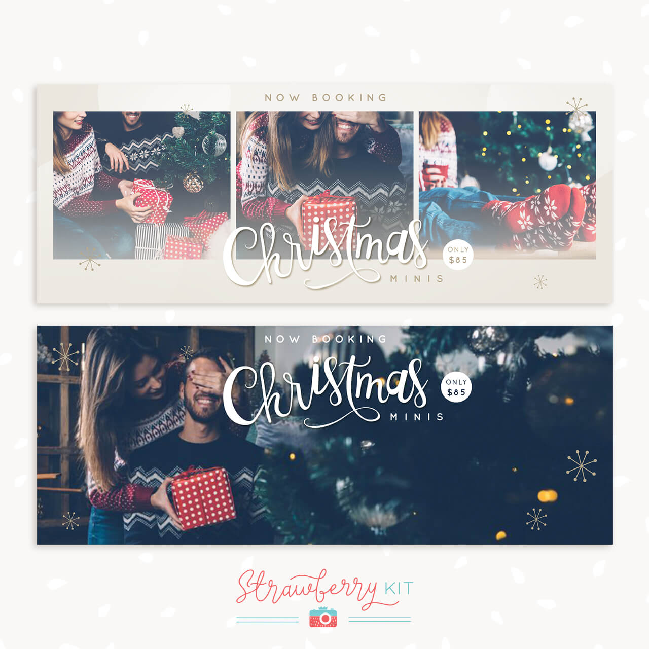 Christmas Mini Sessions Announcement Facebook Cover