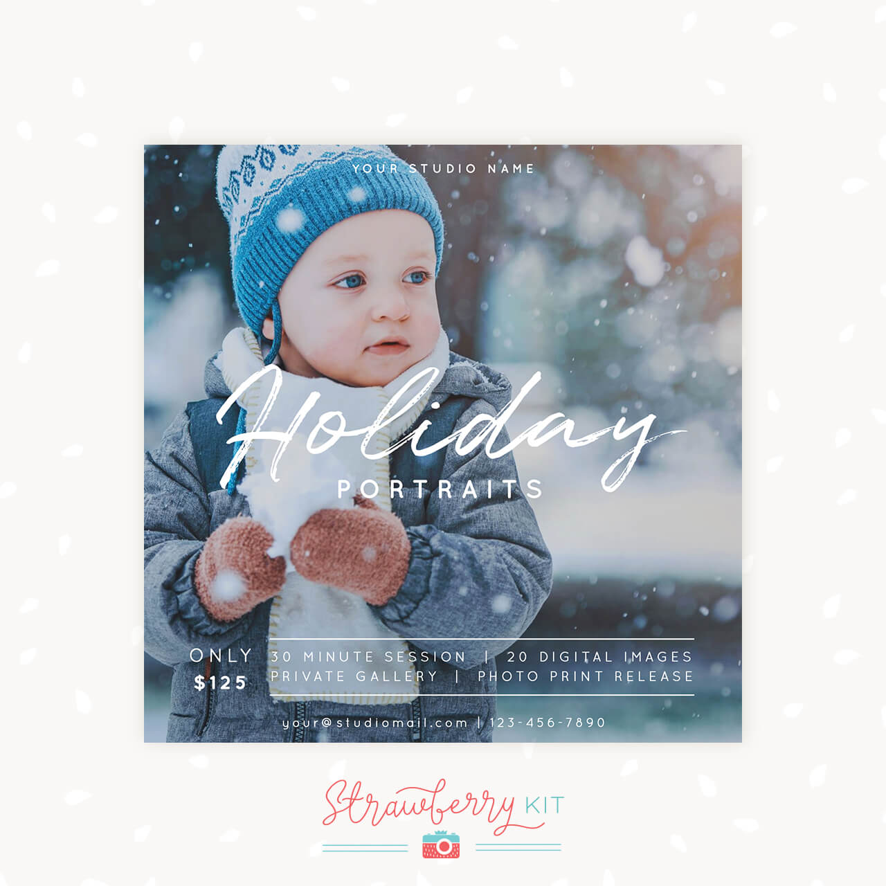 Holiday Mini Sessions Photography Template