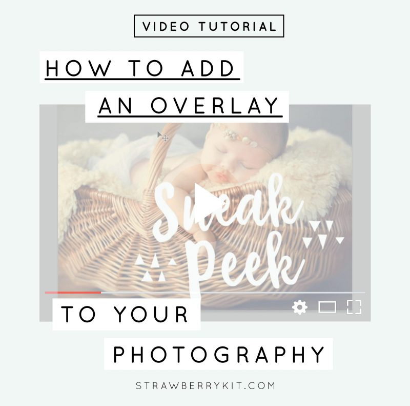 How to add an overlay to photograph