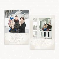 White Christmas Greeting Card Template