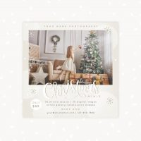 White Christmas Mini Session Template