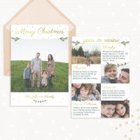 Year in Review Christmas Card Template
