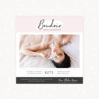 Boudoir Mini Sessions Template Blush