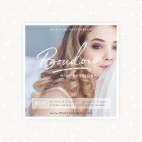 Boudoir Mini Sessions Template Photoshop