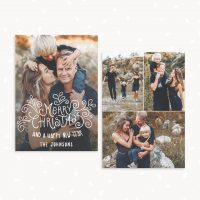 Christmas Card Template Photo Collage