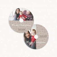 Christmas DVD label template photography