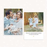 Hanukkah Photography Greeting Card Template