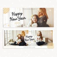 New Year 2019 Photo Facebook Cover Template