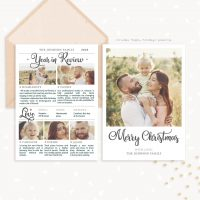 Year In Review Christmas Card Template Photoshop