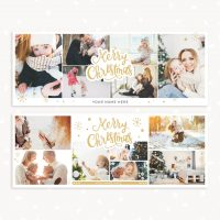 Christmas Facebook Headers Collage Template