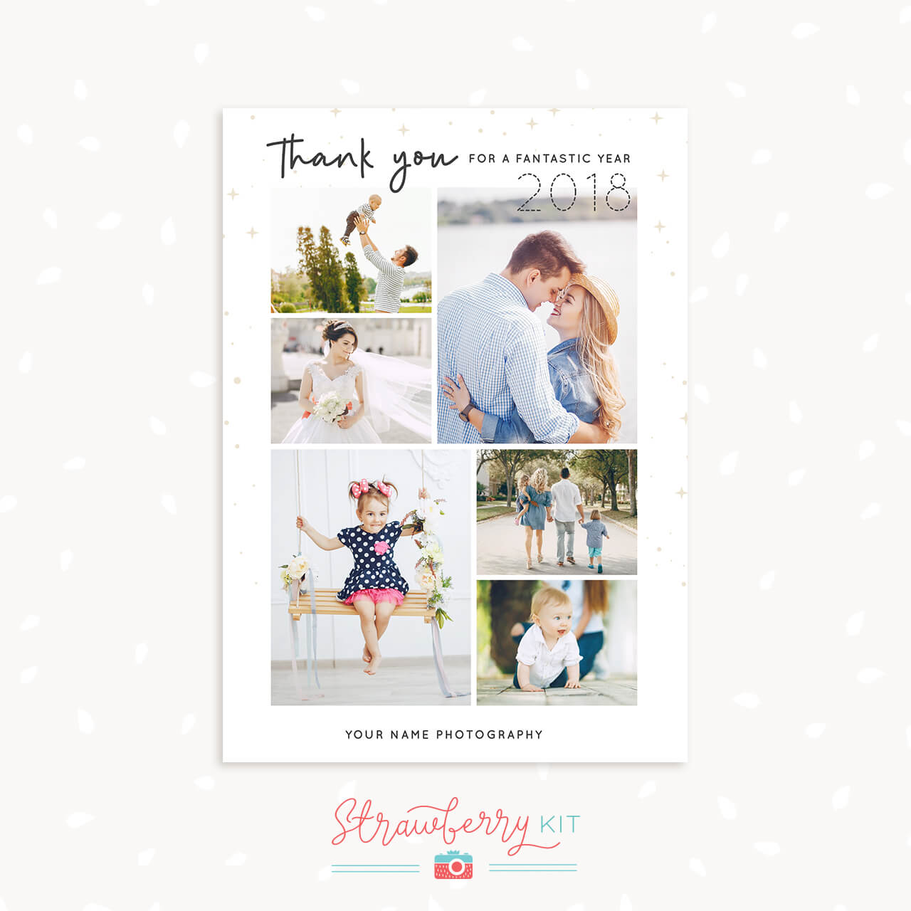 Photographer Thank You Card Template End Of Year Strawberry Kit