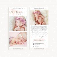 Newborn Photographer Rack Card Template