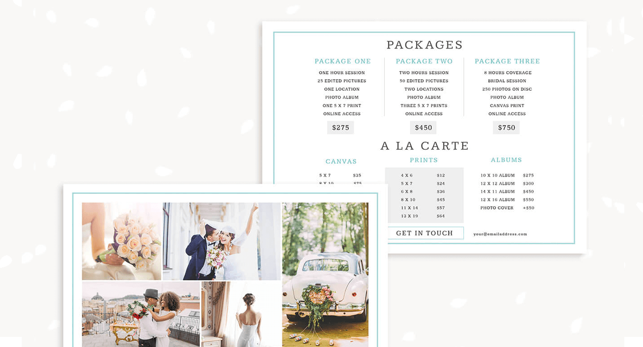 Price lists template category