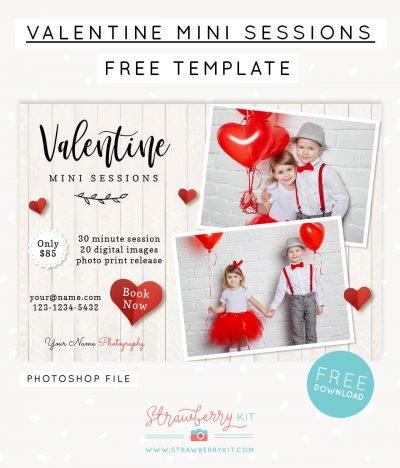 Free Valentine Mini Sessions Template Freebie