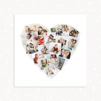 Heart collage template Photoshop Square