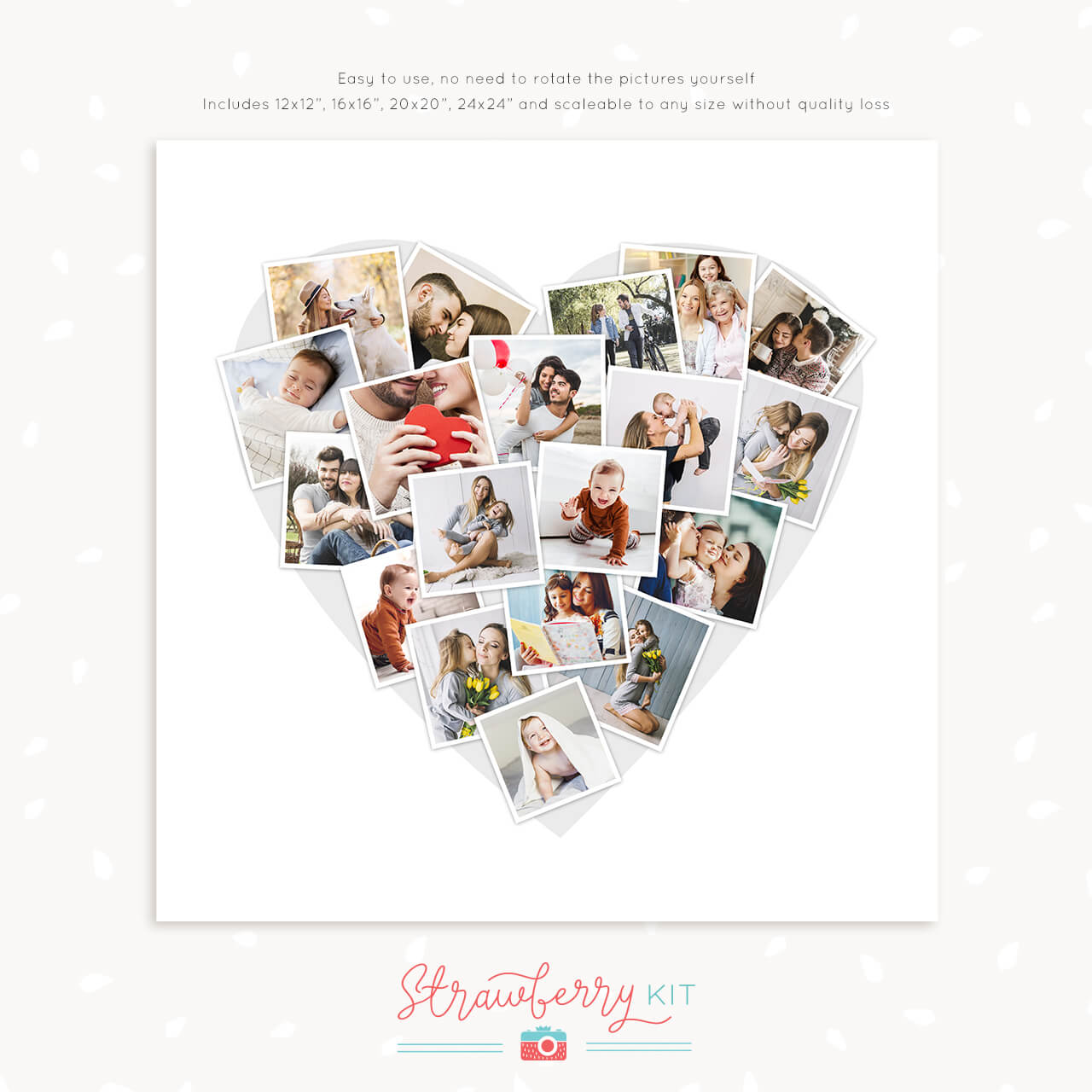 Heart Collage Template For Photo