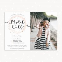 Model Call Photoshop Template Sparkle