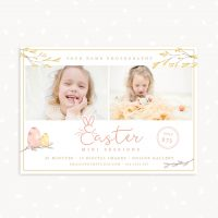 Easter Mini Sessions Template Handwriting