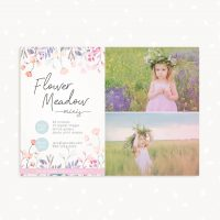 Flower Meadow Mini Session Template