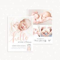 Newborn Announcement Card Template