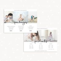 Photographer Price List Card 7x5 Packages