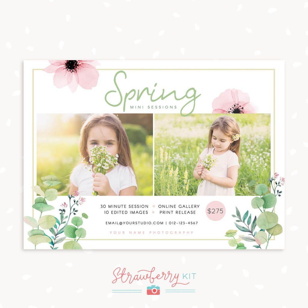 Spring mini sessions template
