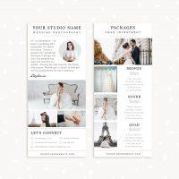 Wedding Photographer Rack Card Template