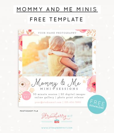 Free mommy and me mini session template