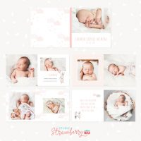 Baby Girl Photo Album Template