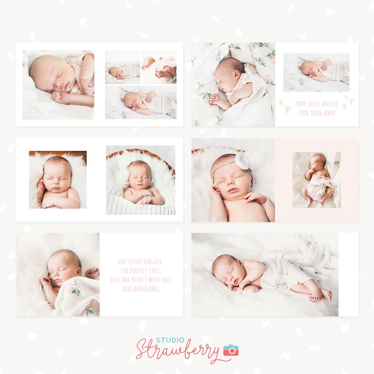baby photo album template for photoshop  u0026quot baby girl