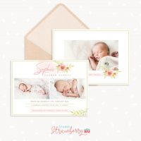 Birth Announcement Template Floral Spring