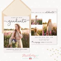 Calligraphy Graduation Invitation Template