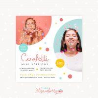 Confetti mini sessions template