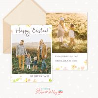Happy Easter Greeting Card Template Photoshop