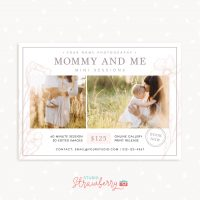 Mommy and me mini sessions template minimal