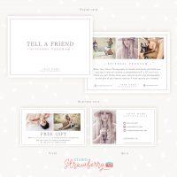 Photography referral program templates