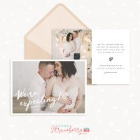 Pregnancy Announcement Photo Card Template