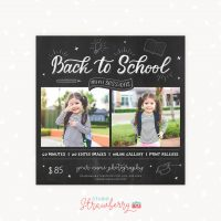 Back to school mini sessions template chalkboard