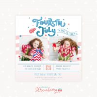 Fourth of July Mini Sessions Template