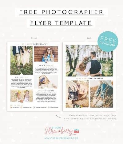 Free photographer flyer template