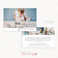 Photographer Client Thank You Card Template