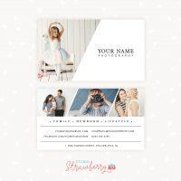 Photographer business card template diagonal