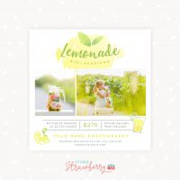 Lemonade Mini Session Template